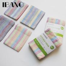 High Quality 100% Cotton Dish Cloth Plaid pano de prato Eco-Friendly Kitchen Towel Bulk Tea Towel Lots Scouring Pad 4PCS/Set OEM