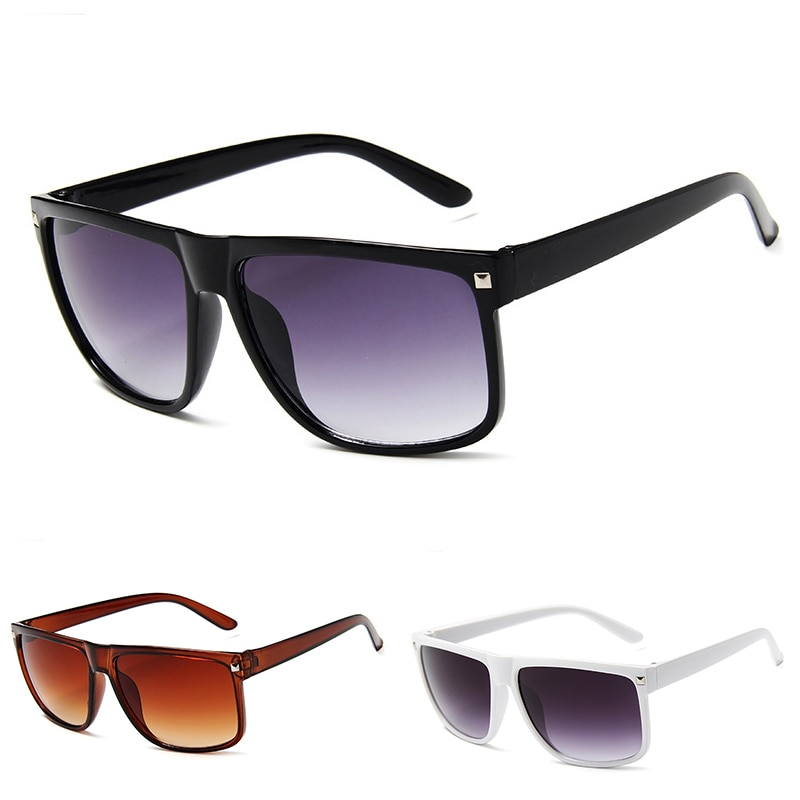 Fashion Vintage Rivets Square Oversized Sunglasses For Men Brand Design Luxury Outdoor Driving Cheap
