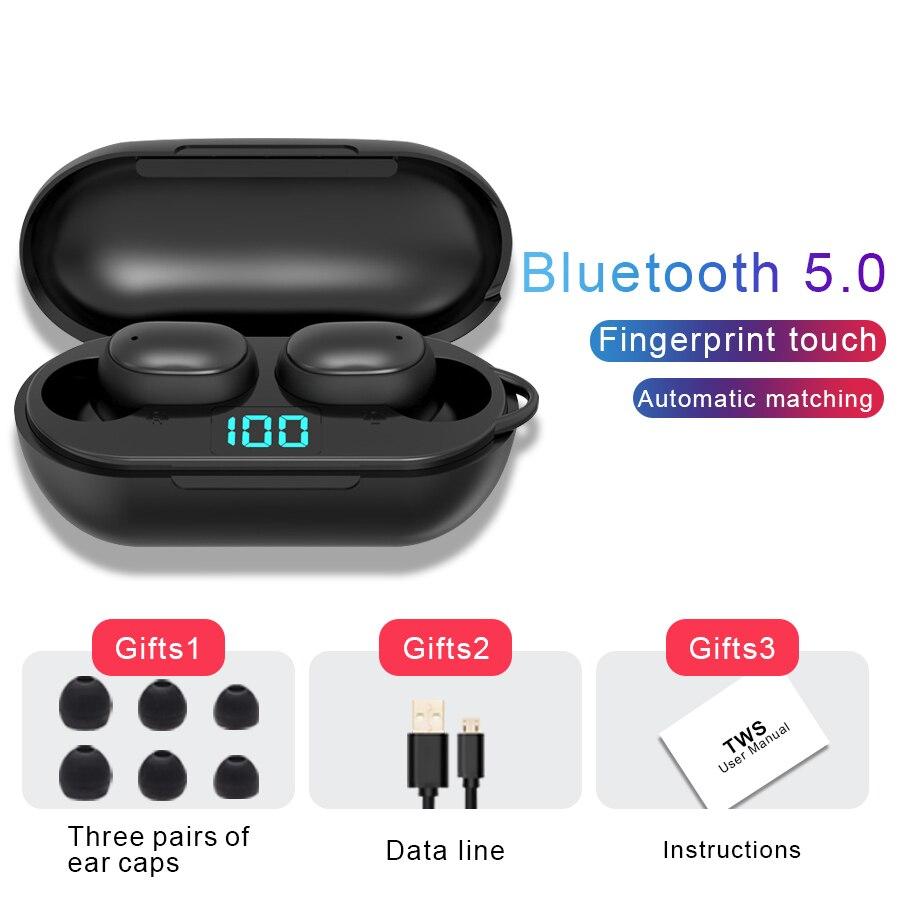 Fones de Ouvido sem Fio Fone de Ouvido Chamada para Xiaomi Bluetooth Alta Fidelidade Mini Esportes Correndo Suporte Telefones hd h6 5.0 Tws