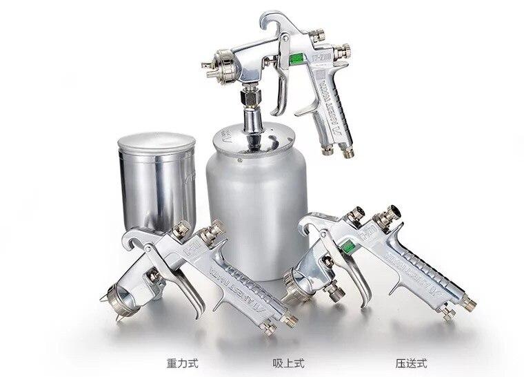 Japan Iwata Low Pressure ANEST IWATA W-200-122-p Car Repair Gravity Type Low Pressure Side Cup Spray Gun enlarge
