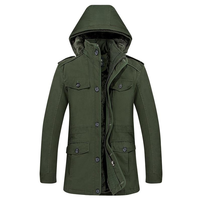 Зимняя мужская ветровка, куртка с кодом, удлиненная ветровка из чистого хлопка, мужское Свободное пальто