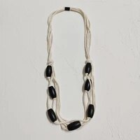 original designs jewelry handmade accessories black and white wooden necklace styles for all purpose