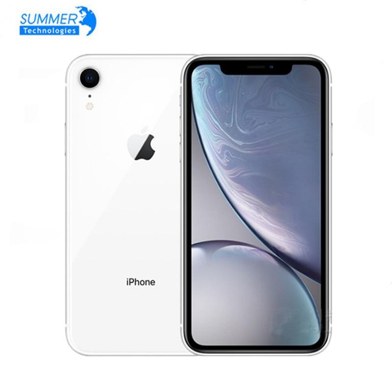 Перейти на Алиэкспресс и купить Разблокированный Apple iPhone XR оригинальный 4G iOS жидкокристаллический Retina полностью ЖК-дисплей 12MP 6,1 дюйма 64 Гб/128 ГБ/256 ГБ распознавание лица б/у ...