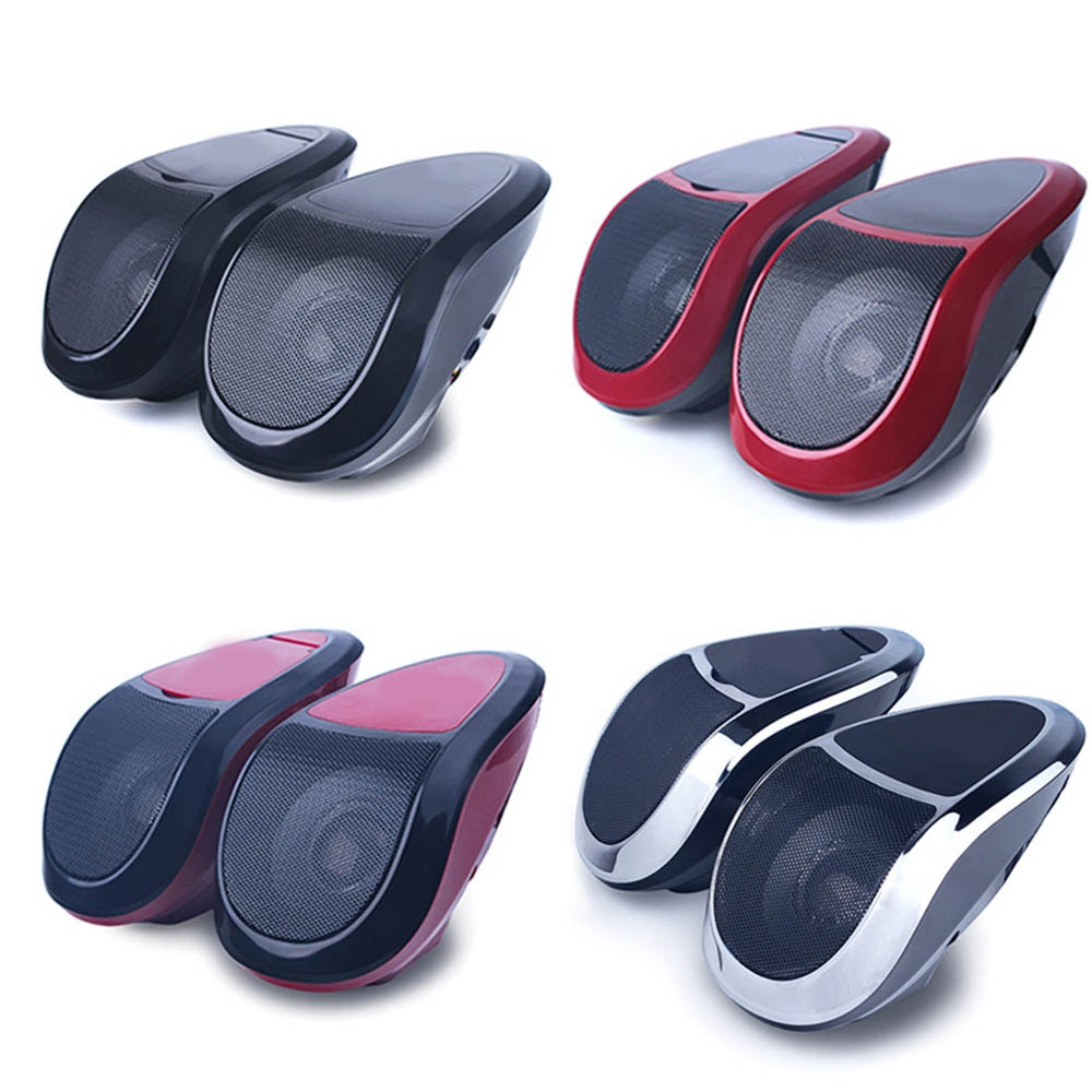 12V 2 uds de Audio para motocicleta estéreo MT493 altavoces Bluetooth portátiles LED impermeable LED luz MP3 jugador sintonizador de Radio FM