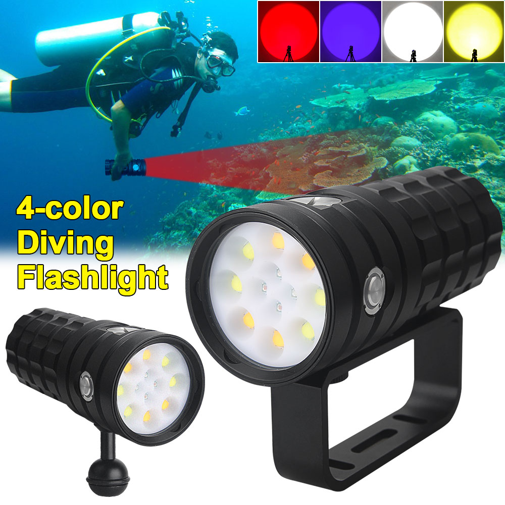 25000Lumens Diving Flashlight 8 XHP50 100M Underwater IPX8 Waterproof Photography Tactical Diving LED Light Camera Video Torch enlarge