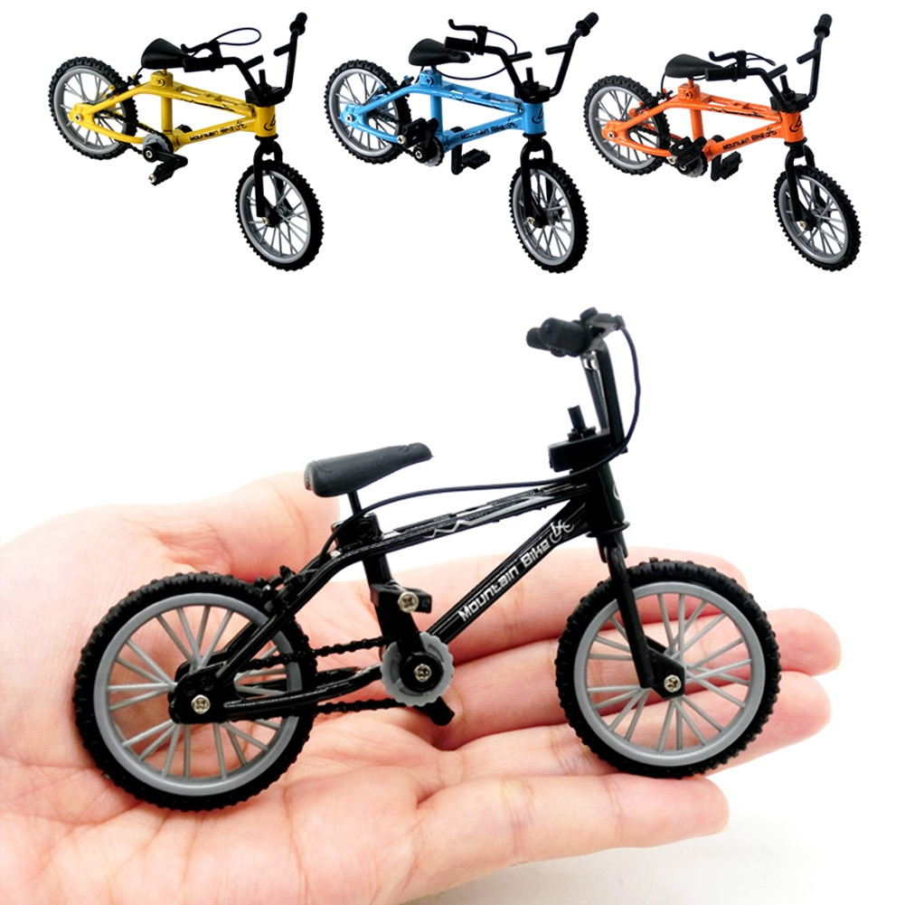 Alloy Bicycle Model Toy Diecast Metal Finger MountaSturdy Durable Simulation Collection Toys For Children Kids Toys mini vintage metal toy motorcycle toys hot wheel safe cool diecast blue yellow red motorcycle model toys for kids collection