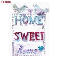 Peinture diamant theme  Home Sweet   images de dessins animes  broderie complete 5d  perles carrees ou rondes  mosaique en point de croix  a faire soi-meme