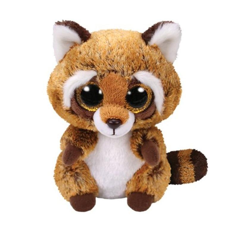 Ty Stuffed & Plush Animals Rusty The Brown Raccoon Toy 15cm