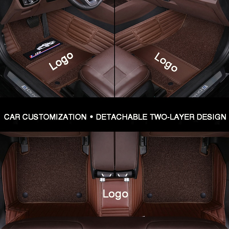 Alfombrilla de suelo de coche envolvente completo hlfctf para Volvo S60L V40 V60 S60 XC60 XC90 XC60 C70 accesorios de coche