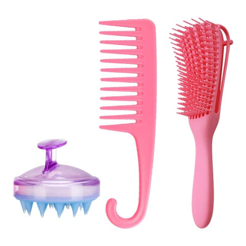 pente de polvo massager pente estilo multifuncional pente nove fileiras de dentes