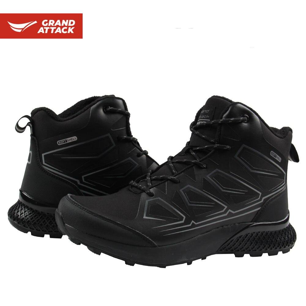 Botas tobilleras de concha blanda para exteriores para hombre, botas para caminar, senderismo, senderismo, mochilero, Camping, pesca y caza