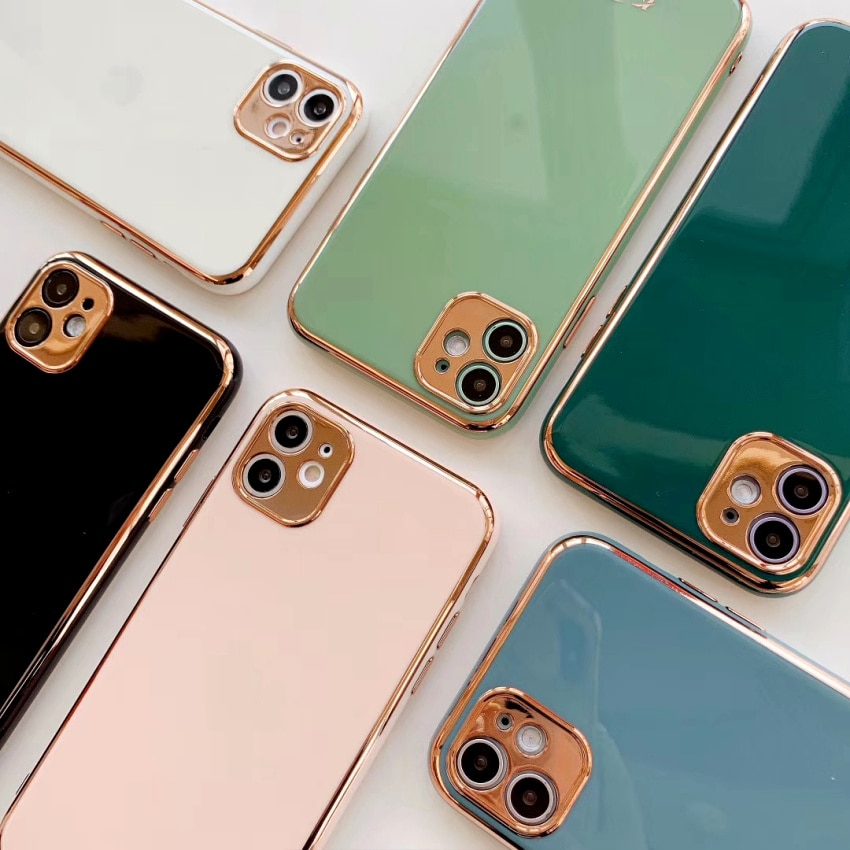 Funda de teléfono de Color sólido para iPhone 11 11 Pro Max XR XS Max X 7 8 Plus a prueba de golpes suave TPU cubierta trasera caliente