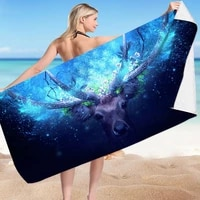 microfiber sand free beach towel quick dry super absorbent lightweight oversized large towels blanket for travel pool swimming b