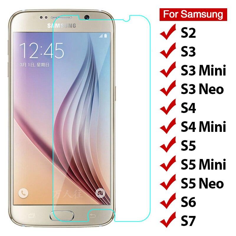 Protector de pantalla HD 9H para Samsung Galaxy S7, S6, S5, S4...