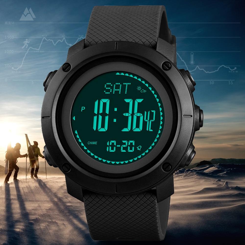 SKMEI-ساعة رقمية للرجال ، مقياس الارتفاع ، مقياس الحرارة ، مقياس الارتفاع ، الرياضة ، التسلق ، التنزه ، ساعة اليد ، 1427