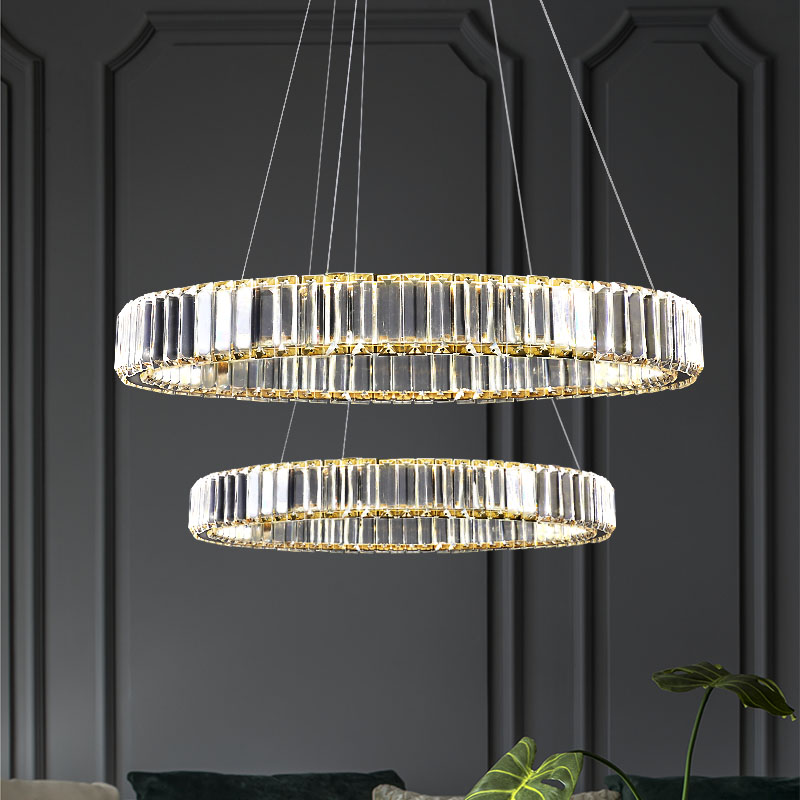JMZM كروم قلادة ضوء الحديثة كريستال الثريا غاسل LED جزيرة المطبخ ضوء لمطعم غرفة المعيشة لوفت فيلا قاعة