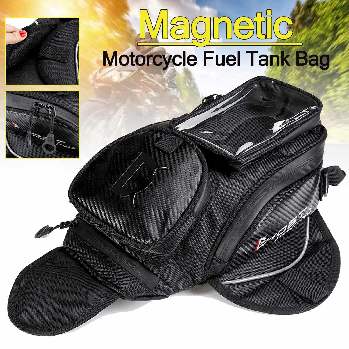 حقيبة خزان وقود دراجة نارية مغناطيسية ، حقيبة سرج دراجة نارية ، شاشة كبيرة للهاتف ، نظام ملاحة GPS
