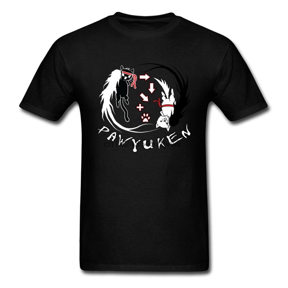 Camisetas blancas y negras de gato Yin Yang, camisetas a la moda de pata YUKEN, camiseta de verano, sudadera divertida Novely, camiseta de Anime cómico de Taekwondo