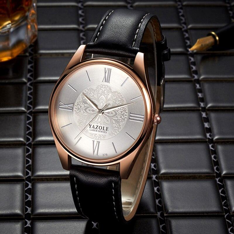2020 Relogio Masculino hommes montres haut de gamme de luxe YAZOLE affaires Ultra-mince hommes montre-bracelet hommes montres mode homme horloge