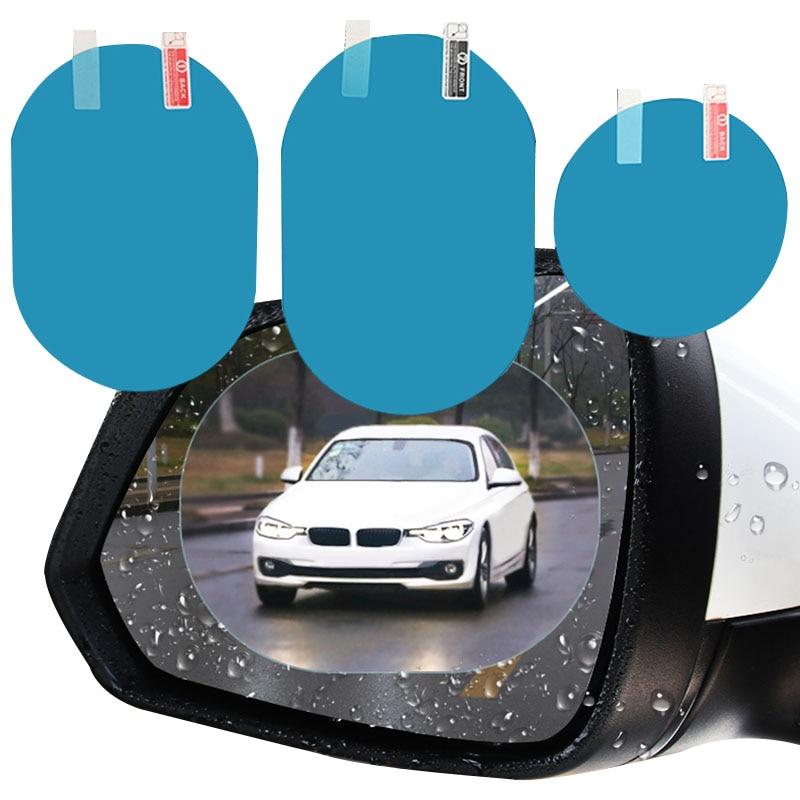 2 Pcs Car sticker Rainproof Film for Car Rearview Mirror Car Rearview Mirror Rain Film Clear sight in rainy days Car film