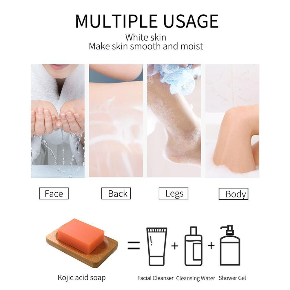 100g Kojic Acid Whitening Soap Gentle Cleansing Pores Soap Handmade Skin Skin Brightening Care Acid Kojic Soap M4C4 kojic acid and its derivatives