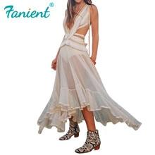 Sexy weißes kleid unregelmäßigen strand kleid backless vestido longo party kleider vintage elegante frau kleid casual kleid tunika boho