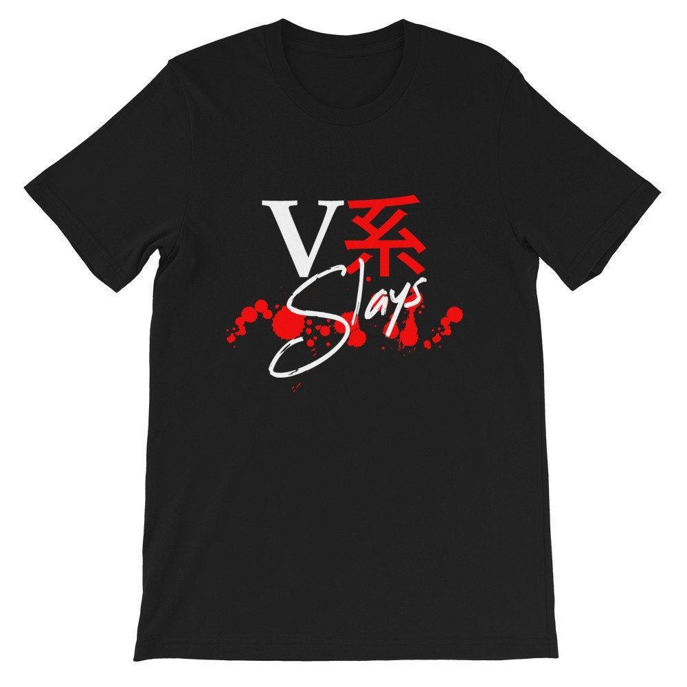 VK mata a Visual Kei Visual K J Rock J Pop japanische Japón Musik Fan Kurzarm Unisex T camisa