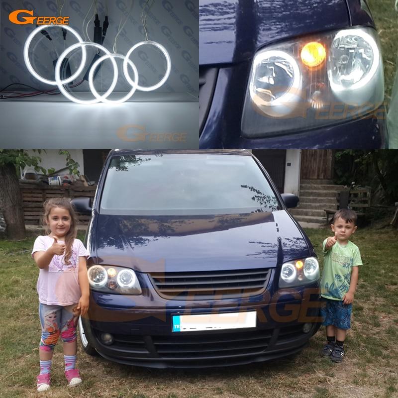 Para Volkswagen VW Caddy 2004 2005 2006 2007 2008 2009 Excelente ccfl angel eyes kit de halo anéis Ultra iluminação brilhante