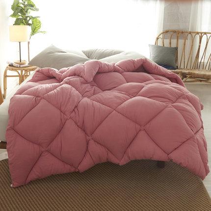 Pure Color Winter Quilt Duvet 1.5~3kg Weigte Down Quilt Duvet King Queen Twin Size Very Warm Winter Blanket Comforter Filler