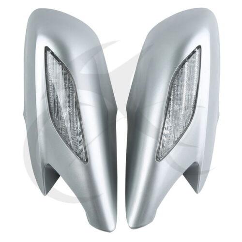 Espejos retrovisores para motocicleta, cristales claros de intermitentes para Honda ST1300 2002-2011, plástico, 8 colores