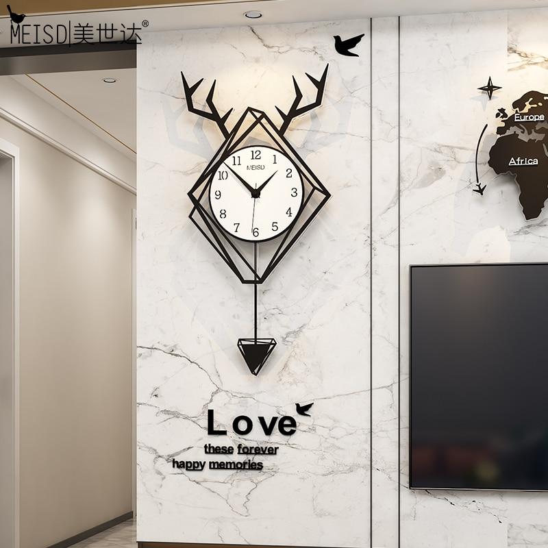 Дизайнерские настенные часы MEISD в скандинавском стиле, кварцевые украшения для дома, гостиной