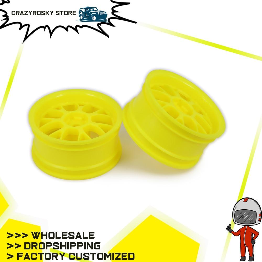 2 pcs/set Plastic 52mm Wheel Rim Wheel Rim For Rc Tire Car 1/10 On Road Racing Crawler Drift Car HSP Himoto HPI Traxxas Tyre