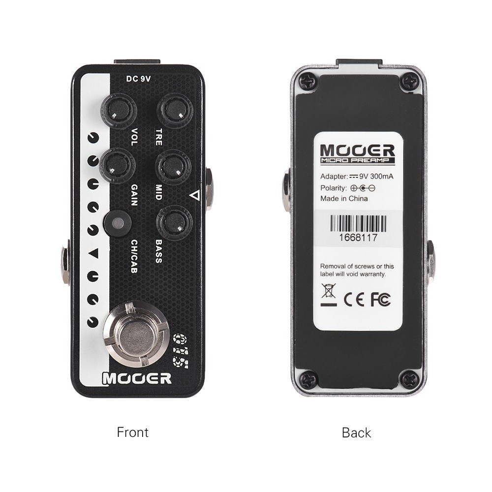 Mooer 015 Brown Sound Digital Preamp Guitar Effect Pedal Very Early 90S Guitar Effect Dual Channels 3-Band Eq Micro Preamp enlarge