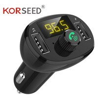 Korseed Bluetooth Car Kit Quick Dual Usb Car Charger Fm-zender Modulator Audio Muziek Mp3 Speler Handsfree Carkit