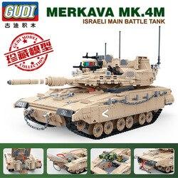 1540 pçs 6109 exército merkava mbt batalha principal tanque militar blocos de construção tijolos edição limitada brinquedo presente para crianças aniversário