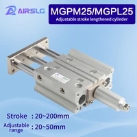 mgpl mgpm25 mgpl25 20z200z strokthree axisthin rod cylinder compact guide stable pneumatic adjustable stroke cylinder 20 30 50