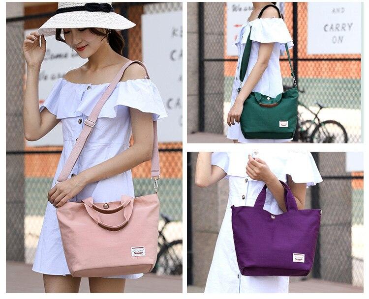 Women Canvas Handbags Messenger Bags 2020 Brand New Fashion Panelled Zipper Female Students School Bags Casual Shoulder Bags