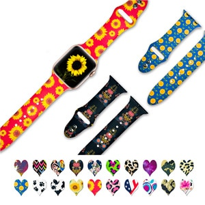 Set Of 3 Print Silicone Rubber Strap For Apple Watch Band Iwatch 6 Series 654321