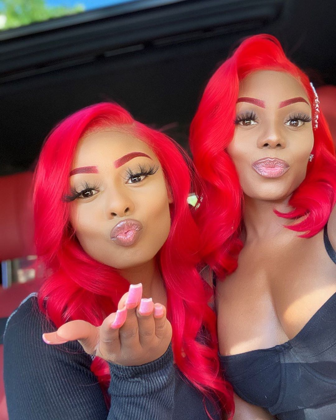 Red Burgundy Brazilian Body Wave Colored 13x4 Lace Front Virgin Human Hair Wig With Baby Hair 180 Density