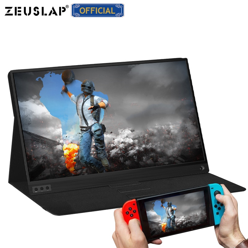 ZEUSLAP Portable lcd hd monitor 15.6 usb type c HDMI-compatible for laptop,phone,xbox,switch and ps4 portable lcd gaming monitor