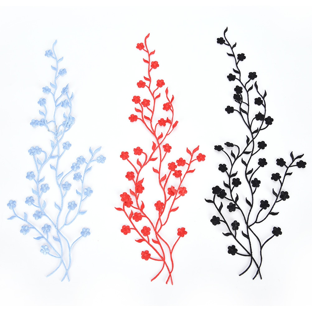 Flor de ciruela bordado de apliques de flores ropa parches de tela pegatinas coser-En Cheongsam parche de reparación, costura Accesorios