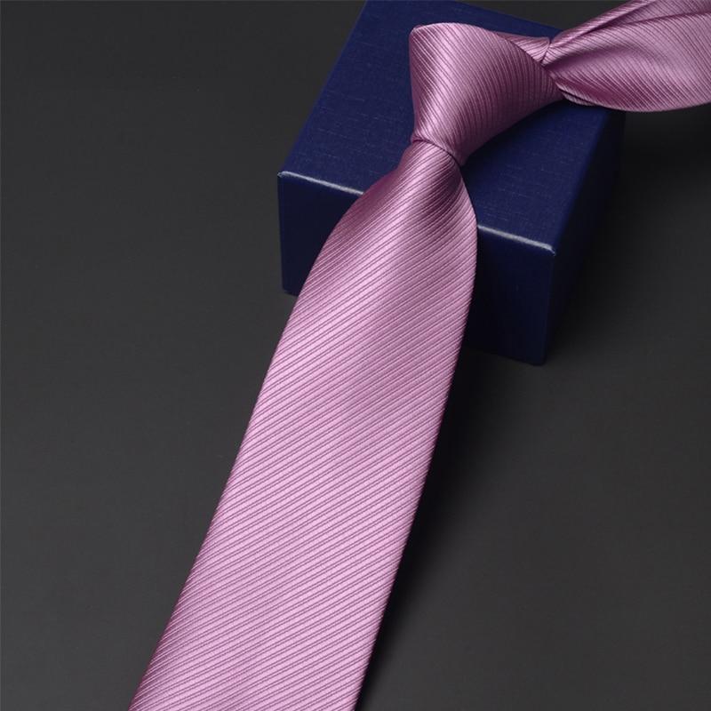 High Quality Men's 6cm & 8cm Wide Tie Fashion Casual Solid Color Neck Tie for Men Business Work Necktie Groom Wedding Party Ties