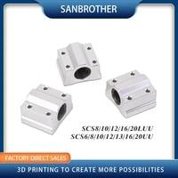 4pcs linear motion ball bearing slide block bushing sc8uu scs8uu sc10uu scs12uu scs16uu sc20uu linear shaft cnc 3d printer parts