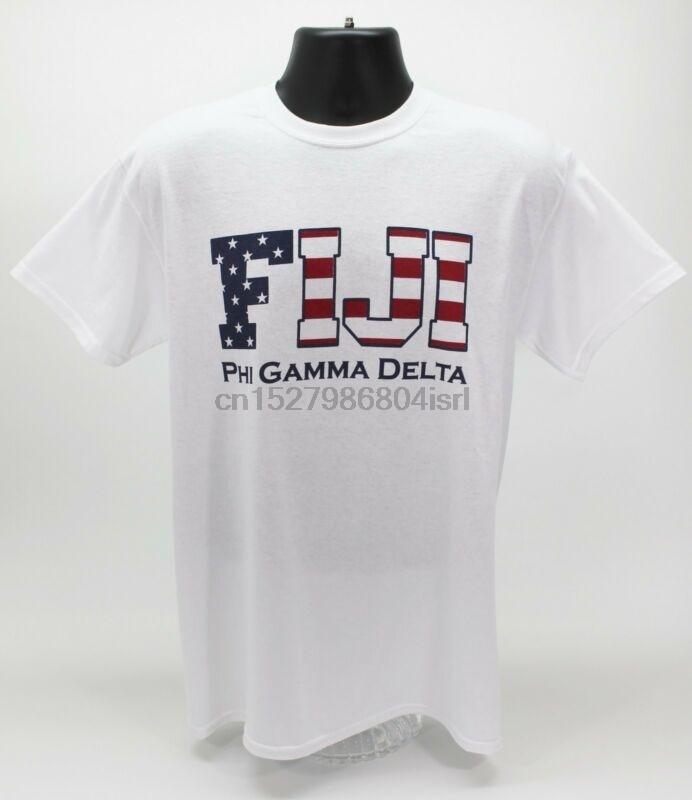 Phi Gamma Delta FIJI Fraternity USA T-Shirt White