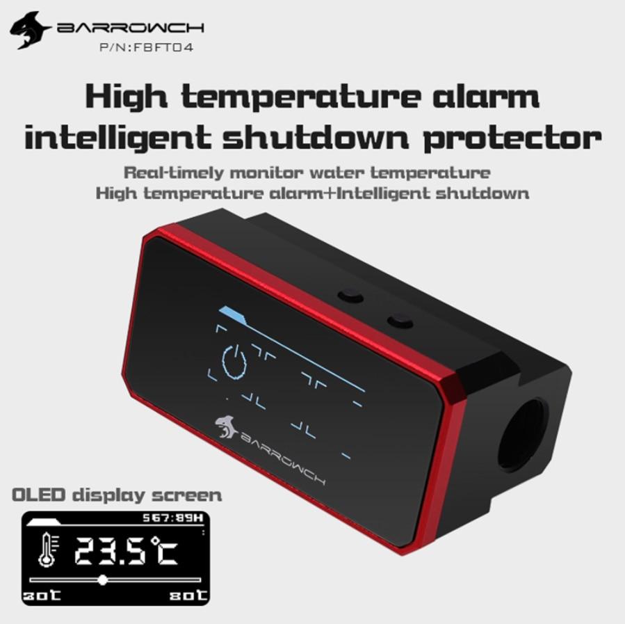 Barrowch FBFT04 pantalla OLED protectora multimodo con alarma cuando se sobrecalentan y se apagan de forma inteligente