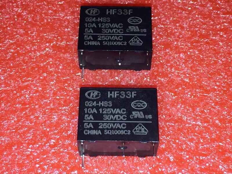 5 pçs/lote Novo Relé de Potência JZC-33F HF33F-005-HS3 HF33F-012-HS3 HF33F-024-HS3 5A250VAC 4PIN