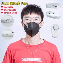 Portable Cooling Fan For Face Mask Transparent Clip-On Air Filter USB Rechargeable Silent Mini Fans