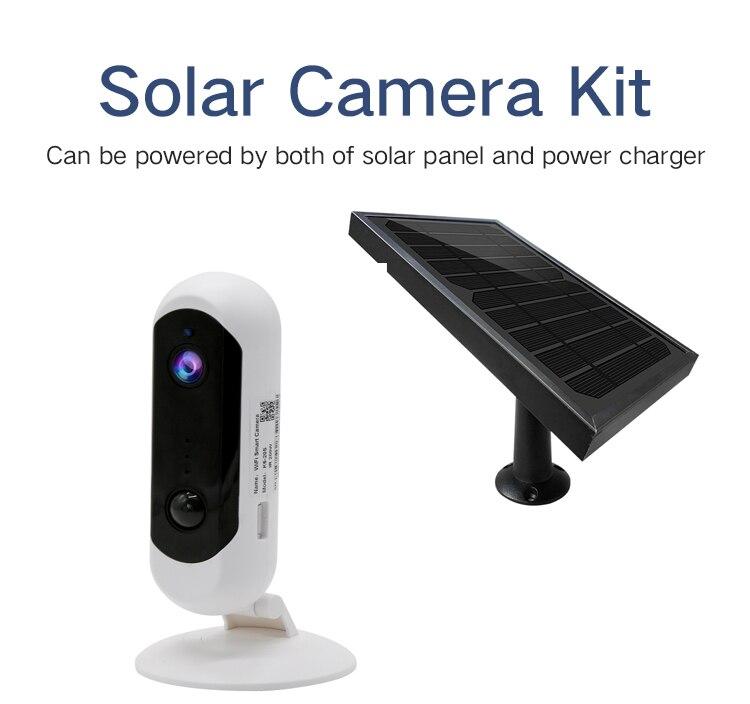 SmartYIBA impermeable Panel Solar recargable batería alimentación WIFI seguridad IP Cámara al aire libre 1080P 2.0MP Video interior cámara IP