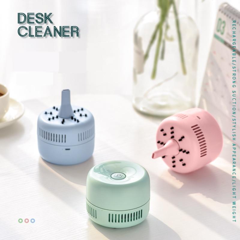 Aspirador de pó portátil recarregável, mini aspirador de pó usb para mesa de trabalho, decoração automática para limpeza