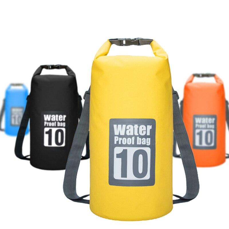 Actuellement disponible PVC Gap ancien épaule sac seau étanche Sports de plein air à la dérive sac étanche Portable main plage Bac